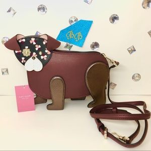 KATE♠️SPADE FLORAL PUP DOG CROSSBODY LIMITED ED!